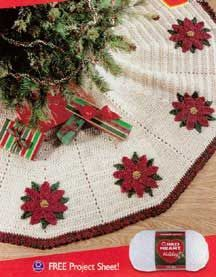Crochet Pattern. Tree Skirt. FREE  Designed by Mary Jane