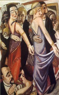 Max Beckmann (German 1884–1950) [Neue Sachlichkeit, German Expressionism] Dancing Bar in Baden-Baden, 1923.