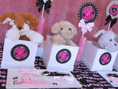 Favors at a Puppy Party #puppy #partyfavors