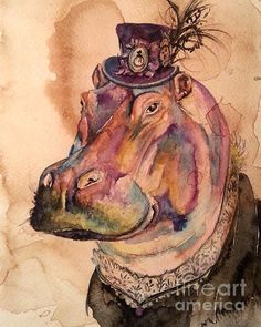 Eunice Hippo by Christy Freeman