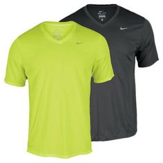 Running shirts!!  Lightweight and high performance! NIKE Men`s Challenger V-Neck Running. I have two.
