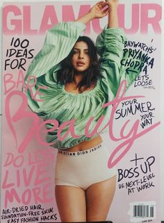The Fappening Sexy Priyanka Chopra photoshoot foe Glamour magazine. Priyanka Chopra is a 35 year old actress model and singer from India. Fashion Magazine Cover, Fashion Cover, Magazine Cover Design, Fashion Fashion, Fashion News, Fashion Graphic, Fashion Beauty, Fashion Design, Fashion Trends