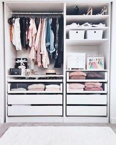 Bedroom Closet Design, Closet Designs, Home Decor Bedroom, Dressing Ikea, Wardrobe Room, Cute Room Ideas, Closet Remodel, Dorm Room Organization, Beauty Room