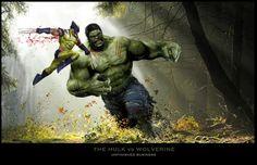 #Hulk #Fan #Art. (Hulk vs Wolverine) By: Uncannyknack.
