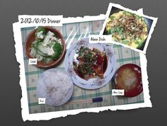 For Dinner on 15/Oct/2012
