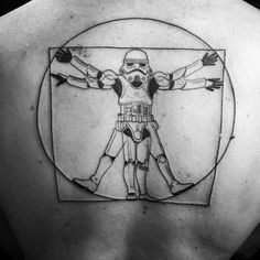 Trooper of Vitruve. Done at the tattoo convention May the Ink be with You, Le planete Mars, Paris. mylooz.tatouage@gmail.com