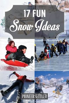 17 Fun Winter Activities For Kids In The Snow | Fun Learning And Creative Things To Do During Winter by Pioneer Settler at http://pioneersettler.com/17-fun-winter-activities-kids-snow/