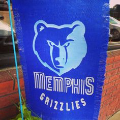 Memphis Grizzlies Burlap Flag by AdamsFloristandGifts on Etsy, $35.00