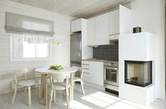 artek.fi summer villa kitchen, white,