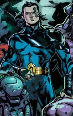 Tempest. There are 3 versions of this hero; I think this one is Garth, the former Aqualad. It could also be Christopher Champion, a member of the Atari Force team. Leave me a comment if you know which one this is!