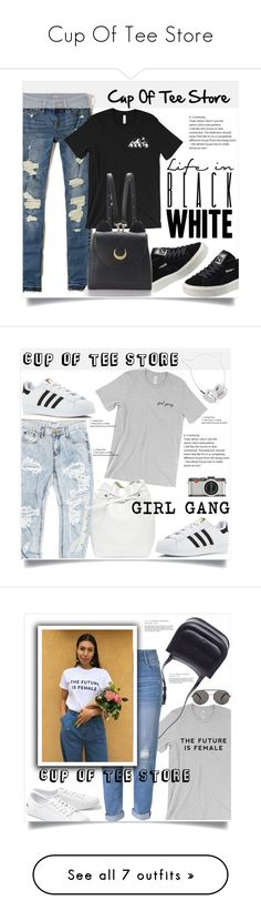 """Cup Of Tee Store"" by amra-mak ❤ liked on Polyvore featuring Hollister Co., Puma, WithChic, cupofteestore, OneTeaspoon, adidas, Mansur Gavriel, Skinnydip, Leica and The Row"