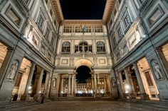 """The Uffizi Gallery, Florence, Italy. The Galleria degli Uffizi holds the world's finest collection of Renaissance paintings. All the famous names of Italian art are here—not only the Renaissance masters, but also painters from the early medieval, baroque, and Mannerist heydays. Main attraction: """"The Birth of Venus"""" by Botticelli"""