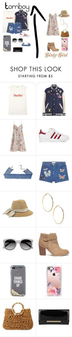 """""""Tomboy & Girly-Girl"""" by foxykitty-1 ❤ liked on Polyvore featuring Rebecca Minkoff, Marc Jacobs, Zimmermann, adidas, Valentino, Eugenia Kim, GUESS by Marciano, Sole Society, Kate Spade and Casetify"""