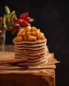 Karamellás pali Pancakes, Breakfast, Food, Morning Coffee, Eten, Meals, Pancake, Morning Breakfast, Crepes