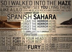 Foals Spanish Sahara: Beautiful song. I think this is my favourite song in the world. It's my life saver.