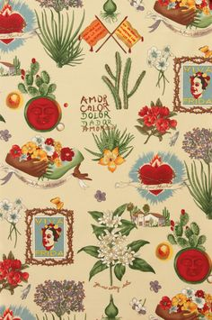 Alexander Henry Fabric Viva Frida Parchment By by greatfabricfinds, $9.00