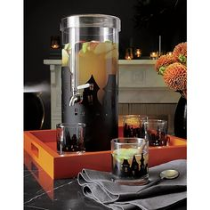 Clean, clear glass beverage dispenser serves sangria, fresh juices and iced tea on a grand scale with all the features you'll need to keep the party flowing. Fully assembled spigot promises a leak-proof pour every time. Sleek cap-like lid allows for easy refills of ice or fluids.