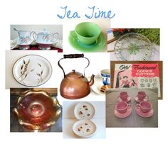 """""""Tea Time"""" by oldsowell ❤ liked on Polyvore featuring interior, interiors, interior design, home, home decor, interior decorating, Noritake, Wedgwood and vintage"""