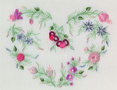 I ❤ embroidery . . . Carol's Heart - Beautiful Brazilian Dimensional Embroidery