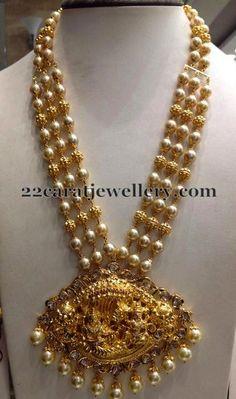 Pearls Haram with Krishna Locket | Jewellery Designs