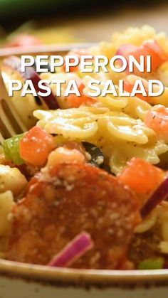 Quick and easy cold Pasta Salad recipe perfect for the summer! Bring this to any backyard party or potluck and it will be the first to go. It's loaded with flavor from the delicious Italian dressing…More Pepperoni Pasta Salads, Pepperoni Recipes, Gourmet Recipes, Cooking Recipes, Healthy Recipes, Skillet Recipes, Cooking Games, Cooking Tools, Pizza Recipes