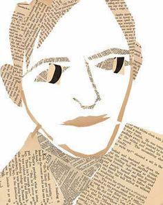 self portrait, Lynette Skelton Primary School Art, Elementary Art, Art Auction Projects, Art Projects, Georges Braque, Mix Media, Newspaper Art, Teen Art, Ecole Art