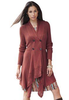 Plus Size Sharktail Cardigan | Plus Size Sweaters & Cardigans | Jessica London
