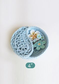 CROCHET PATTERN 4 yin yang jewelry dish ring dish.