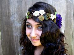 Flower Hair Wreath by BloomDesignStudio @ Etsy $46 #etsy #accessories #flowers