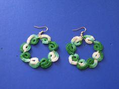 orecchini verdi sfumati