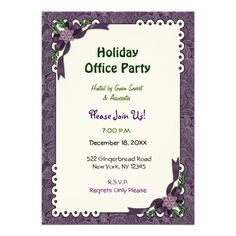 #Customize this lovely #Winter #Plum #Poinsettia background #Office #Christmas #Party #purple #bow accents