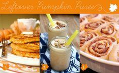 How to use leftover pumpkin Puree | 1. PUMPKIN PANCAKES  |  2. PUMPKIN PIE MILKSHAKES  |  3. PUMPKIN CINNAMON ROLLS