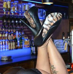 "the shoe-tattoo ""tiger"" Shoe Tattoos, Heels, Collection, Fashion, Moda, La Mode, Shoes High Heels, Fasion, Fashion Models"