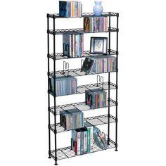Atlantic Multimedia Storage Rack (8 Shelves)