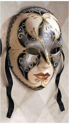 Signora & Joker Full Size Venetian Carnivale Paper Mache Mask Wall Sculptures in Home & Garden, Home Decor & Accents, Wall Decor Venetian Carnival Masks, Venetian Masquerade Masks, Masquerade Theme, Mask Face Paint, Mask Painting, Venitian Mask, Mascarade Mask, Paper Mache Mask, Venice Mask