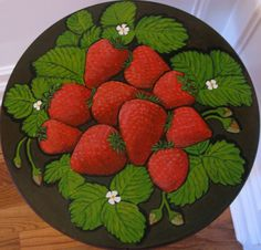 how awesome are these painted strawberries?!