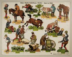 Scholz` Künstler=Aufstellbogen, Märchen. Hans im Glück. Aufstellbilder auf dickem Papier (33x43 cm) No. 56 K.
