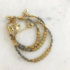 Hexagon Beaded Bracelet hexagon geometric bracelet