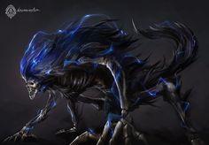 Bloodborne Fanart - Dark Beast Paarl by daemonstar.deviantart.com on @DeviantArt