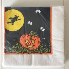 Amscan Halloween Witch & Pumpkin Paper Luncheon Cocktail Napkins 16