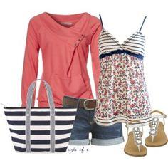Coral and Navy for Summer