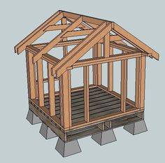 Plans for a little house, could be a dog house, garden shed, chicken coop...