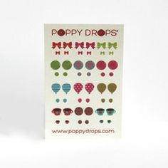 Poppy Drops Veggie Dye Earrings w/ Matching Doll Set. Perfect stocking stuffer for little gal :)  www.poppydrops.com
