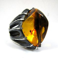 Hey, I found this really awesome Etsy listing at https://www.etsy.com/listing/204558852/amber-ring-mens-rings-mens-gothic-ring