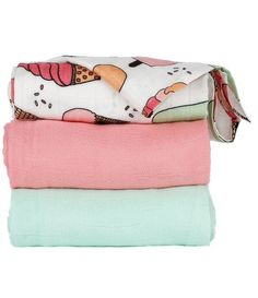 Ice Cream baby blankets! Triple Scoop  - Tula Baby Blanket Set. Perfect for summer!