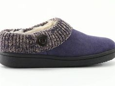 Guide Gear Women's Suede Clog Slippers with Sweater Button Collar 360 View