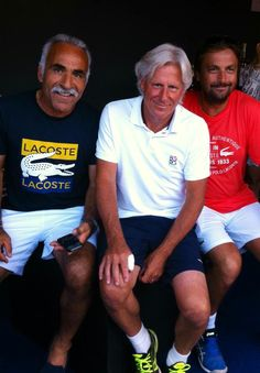 Henri Leconte, Björn Borg and Mansour Bahrami in St. Tropez at Tennis Classic 2013. All pictures: Startourguide presented by Henri Leconte: http:henri-leconte.com/en /gallery