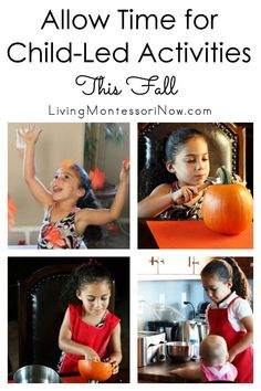The importance of allowing time for fall fun and learning through child-led activities - Living Montessori Now What Is Montessori, Montessori Homeschool, Montessori Classroom, Homeschool Curriculum, Homeschooling, Autumn Activities For Kids, Tot School, Preschool, Learning