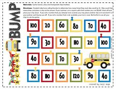 Skip Count by 10 FREEBIE  School Bus BUMP  Skip Counting by 10s