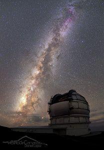 El Cielo de Canarias » Gran Telescopio CANARIAS bajo la Vía Láctea